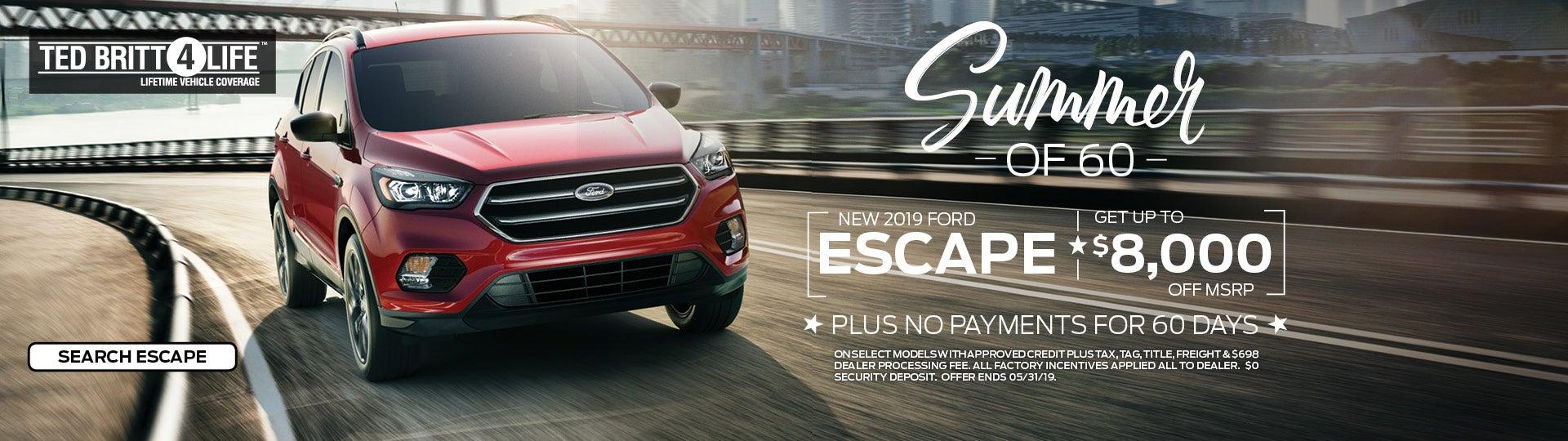 New 2019 Escape | Ted Britt Ford of Chantilly | VA Dealership
